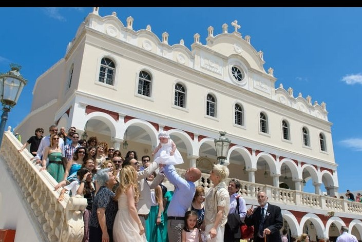 Baptism at Tinos Greece